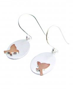 Eclipse - Sterling Silver and Rose Gold Earrings