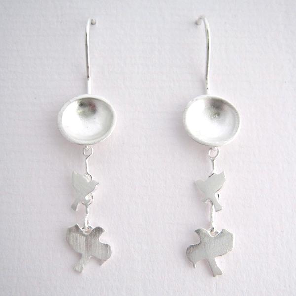Full Moon - Sterling Silver Earrings