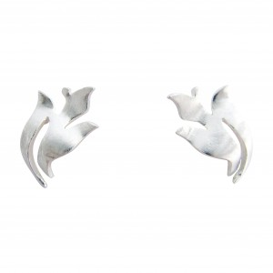 Iris - Sterling Silver Stud Earrings
