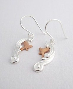 On Cloud Nine - Sterling Silver and Rose Gold Earrings