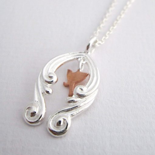 Every Cloud Has a Silver Lining - Sterling Silver and Rose Gold Pendant