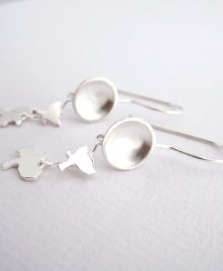 Full Moon - Sterling Silver Earrings