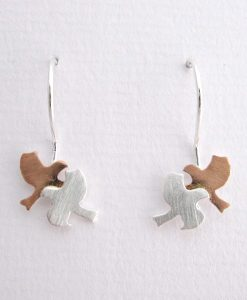 Fly My Pretty - Sterling Silver and Rose Gold Earrings