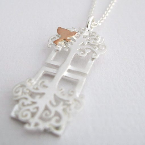 Standing Tall - Sterling Silver and Rose Gold Pendant