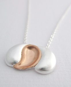 Nest - Sterling Silver and Rose Gold Pendant