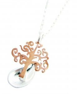 Emerge - Sterling Silver and Rose Gold Pendant
