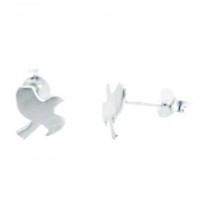 Taking Flight - Sterling Silver Stud Earrings