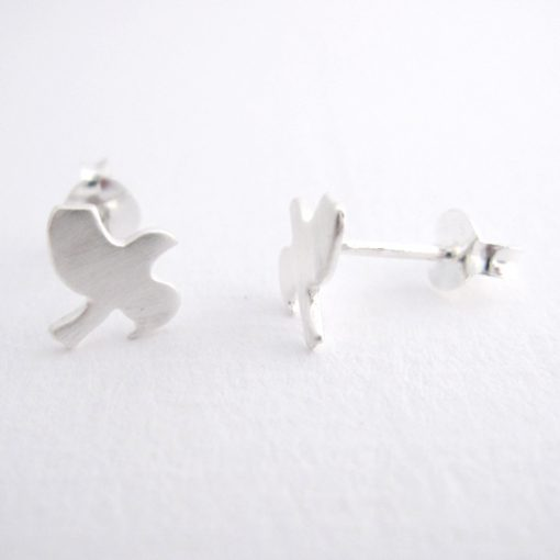 Taking Flight - Sterling Silver Stud Earrings