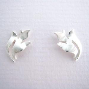 Iris - Sterling Silver Stud Earrings